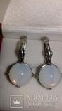 Серьги и кольцо с лунным камнем, фото №2