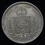 Бразилия 500 рейс 1854 аUnc серебро