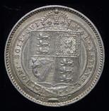Великобритания шиллинг 1887 аUnc серебро