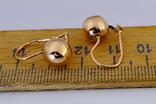 Золотые серьги 583 пробы photo 3