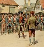 Старинная гравюра. Восстание 1792. Франция. Волонтеры