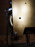 Настенные маятниковые часы AMS с получасовым боем. Механизм AMS W 150A. Германия., фото №8