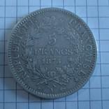 5 франков, Франция, 1875 год