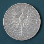1 талер 1860(Франкфурт), photo number 3