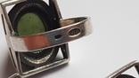 Набор серьги + кольцо. Размер Серебро 925 проба. Зеленый камень., фото №8