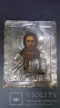 """Икона """" Господь Вседержитель"""" Серебро , 19-20 век."""