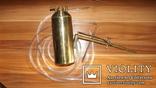 Бензиновая ювелирная горелка латуневая с клеймами, фото №2