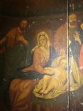 Красивая большая подписная икона 1880 года., фото №4