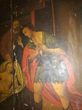 Красивая большая подписная икона 1880 года., фото №5