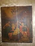 Красивая большая подписная икона 1880 года., фото №2
