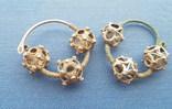 Серебряные колты КР Позолота photo 2