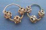Серебряные колты КР Позолота photo 1