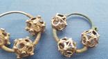 Серебряные колты КР Позолота photo 3