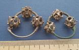 Серебряные колты КР Позолота photo 5