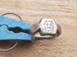 Серебряный перстень КР с тамгой photo 1
