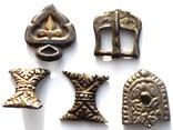Серебряные элементы пояса с позолотой photo 3