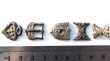 Серебряные элементы пояса с позолотой photo 5