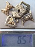 Серебряные элементы пояса с позолотой photo 6