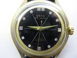 Часы Osco De - Luxe, механические, Германия, ЦСС, позолота 20М, фото №3