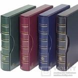 317159. Альбом Leuchtturm, Grande для монет в холдерах или банкнот, с футляром, зеленый