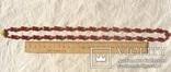 Бусы сердолик, золото 585., фото №9