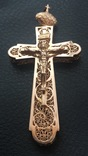 Крест, золото 583. Ручная работа (филигрань)