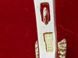Серьги золото вставка гранат, фото №6