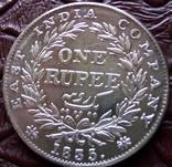 1 рупія 1835 року. Вільгельм ІІІІ Британська Індія (срібло). См. обсуждение. фото 1