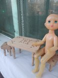 Мебель для кукол натуральное дерево, фото №5