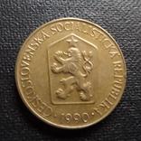 1 крона  1990  Чехословакия    (П.2.32)~, фото №2