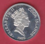 Острова Кука. $50 1989г. Proof, фото №3