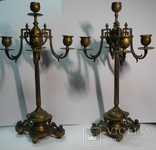 Старинные бронзовые подсвечники канделябры ( Модерн )