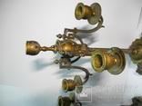 Старинные бронзовые подсвечники канделябры ( Модерн ), фото №7