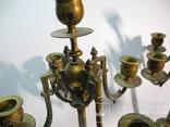 Старинные бронзовые подсвечники канделябры ( Модерн ), фото №8