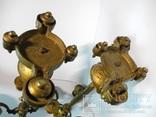 Старинные бронзовые подсвечники канделябры ( Модерн ), фото №12