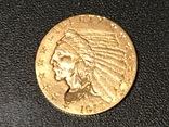 2.5 $ доллара США золото 1915 г. Индеец