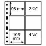 Лист к альбому Leuchtturm, Grande 2x3 кармана 106x98мм, прозрачный. 316604