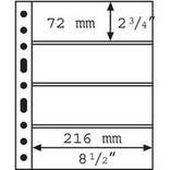 Лист к альбому Leuchtturm, Grande для банкнот, 4С. 316329