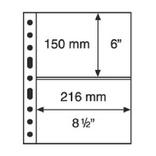 Лист к альбому Leuchtturm, Grande 2x2 полос 216 х 150 мм, черный, 2S. 324690