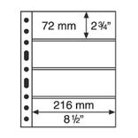 Лист к альбому Leuchtturm, Grande 2x4 полос 216 х 72 мм, черный, 4S. 312682