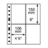 Лист к альбому Leuchtturm, Grande 2x4 кармана 106 х 150 мм, черный.  333959
