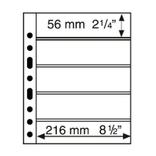Лист к альбому Leuchtturm, Grande 2x5 полос 216 х 56 мм, черный, 5S. 312953