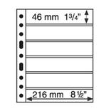 Лист к альбому Leuchtturm, Grande 2x6 полос 216 х 46 мм, черный, 6S. 331156