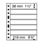 Лист к альбому Leuchtturm, Grande 2x7 полос 216 х 38 мм, черный, 7S. 314011