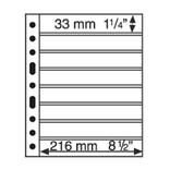 Лист к альбому Leuchtturm, Grande, 2x8 полос 216 х 33 мм, черный, 8S. 329179