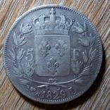 Франция 5 франков 1829 г., фото №2