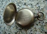 Часы карманные XIX век Швейцария серебро, фото №8