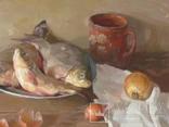 ''Натюрморт с рыбой''. 51х77 см Жданова Виктория, фото №10
