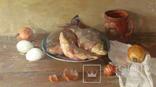 ''Натюрморт с рыбой''. 51х77 см Жданова Виктория, фото №11