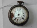 Часы в серебряном корпусе ключевка с клеймом., фото №6